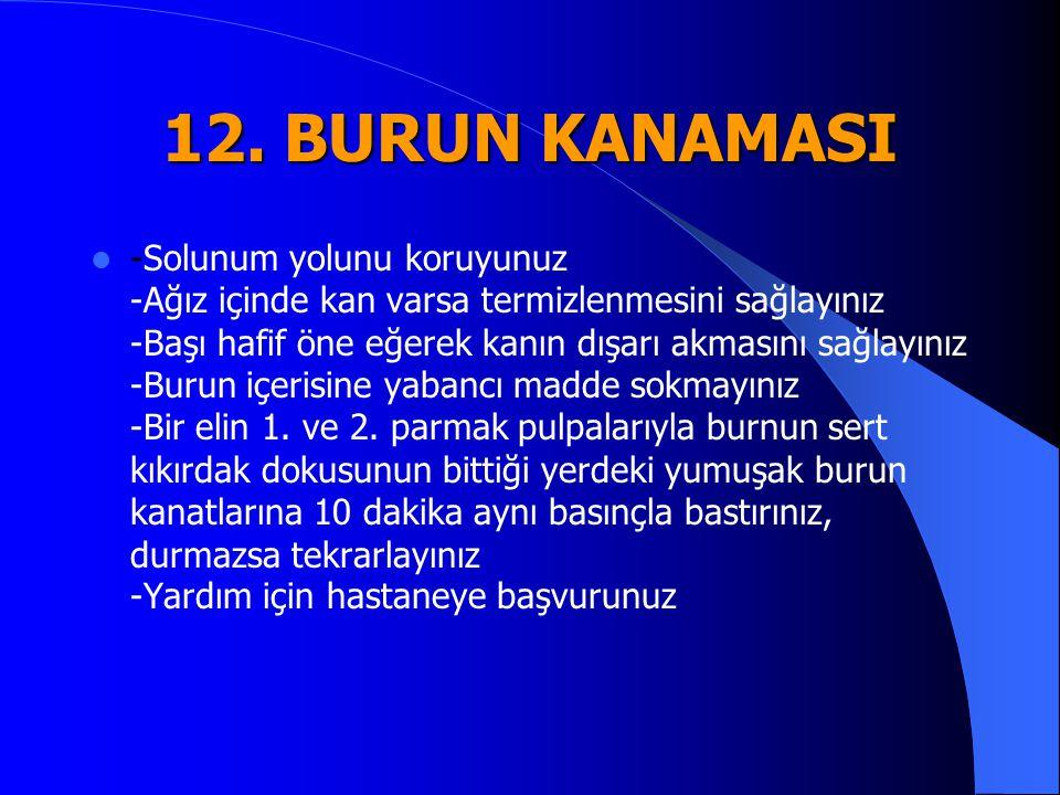 12. BURUN KANAMASI