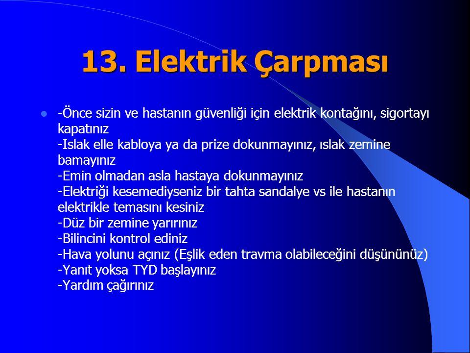 13. Elektrik Çarpması