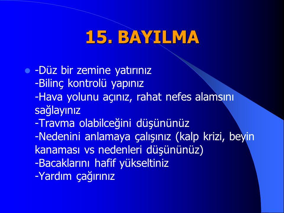 15. BAYILMA