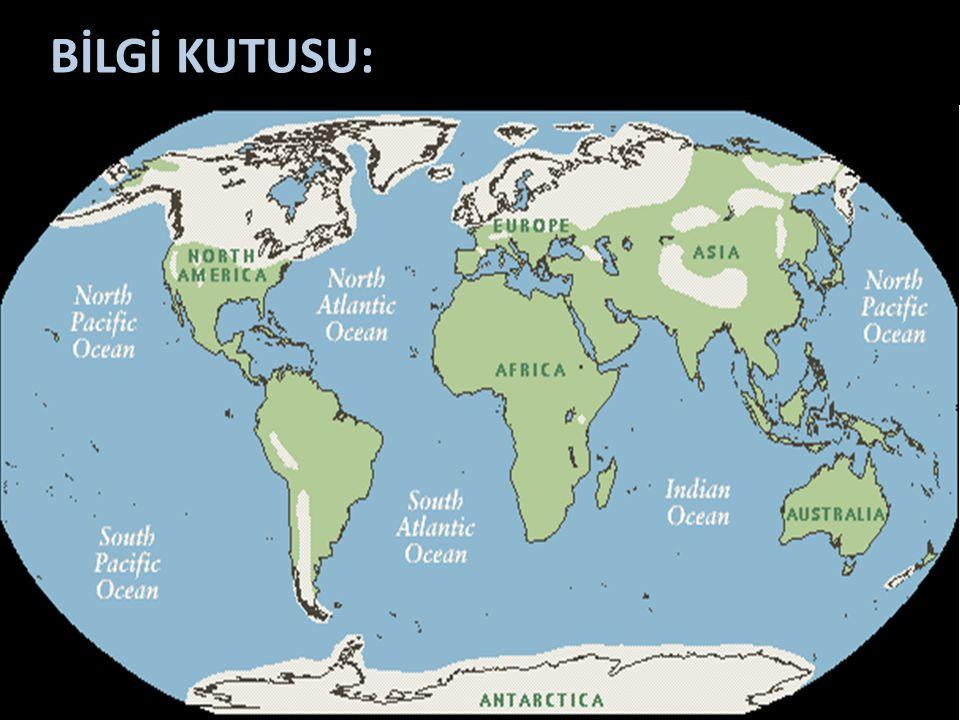 BİLGİ KUTUSU: Günümüzden 10 – 12 bin yıl kadar önce iklim ısınmaya başlamış, buzul alanları çekilmeye başlamıştır.