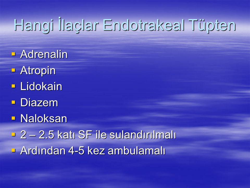Hangi İlaçlar Endotrakeal Tüpten