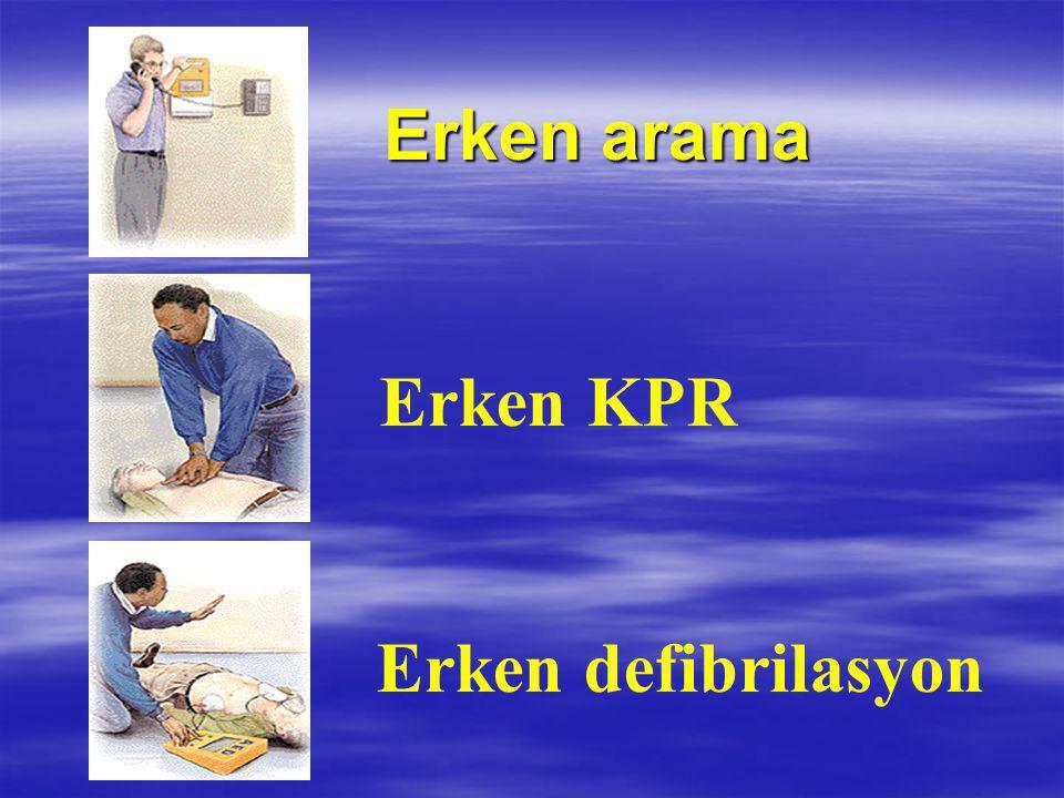 Erken arama Erken KPR Erken defibrilasyon