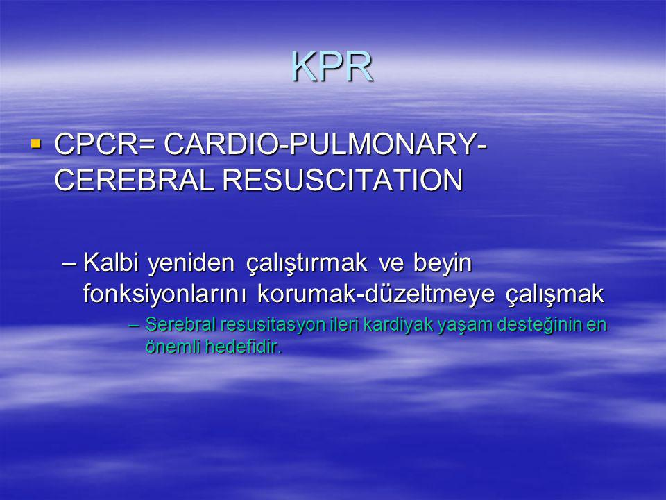 KPR CPCR= CARDIO-PULMONARY-CEREBRAL RESUSCITATION