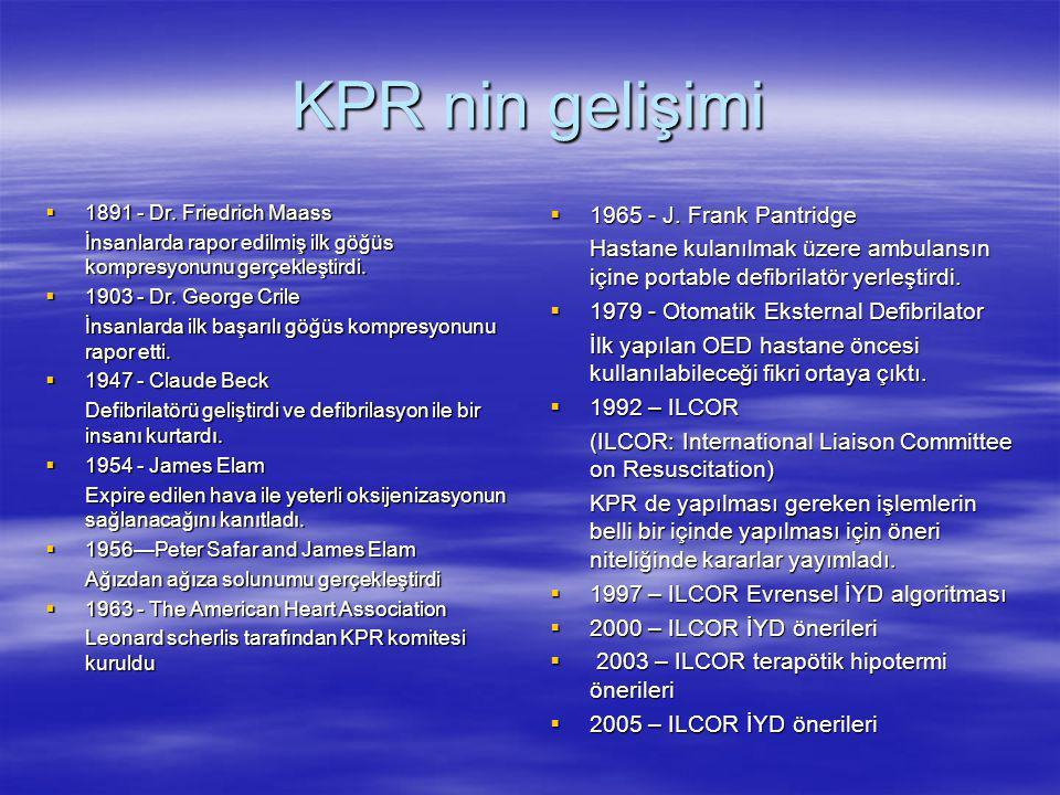 KPR nin gelişimi 1965 - J. Frank Pantridge