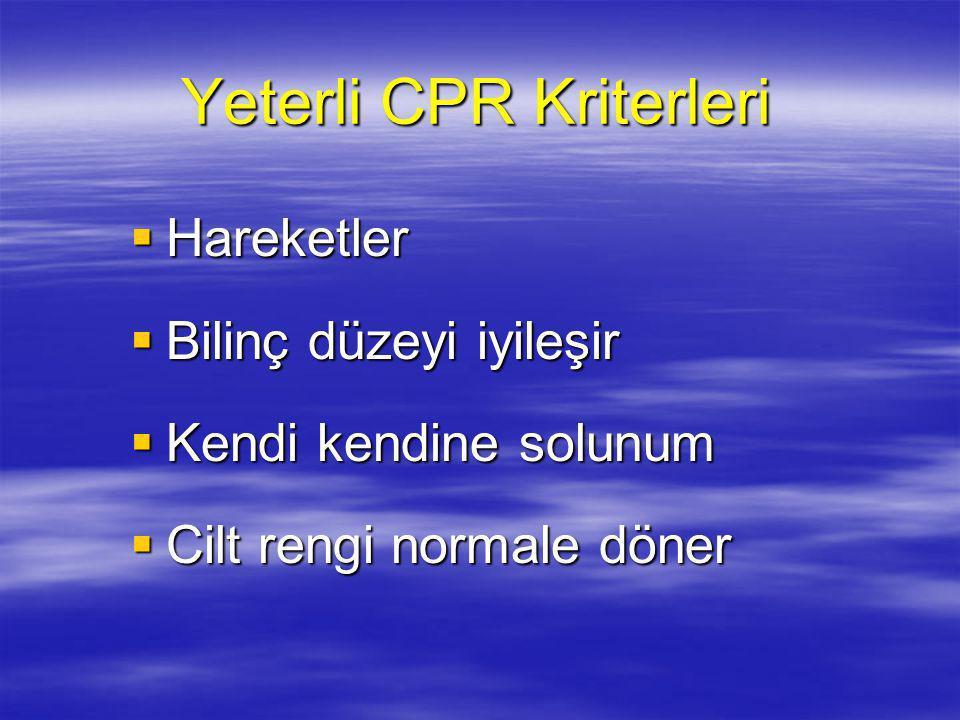 Yeterli CPR Kriterleri