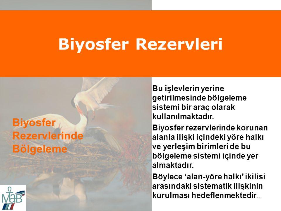 Biyosfer Rezervleri Biyosfer Rezervlerinde Bölgeleme