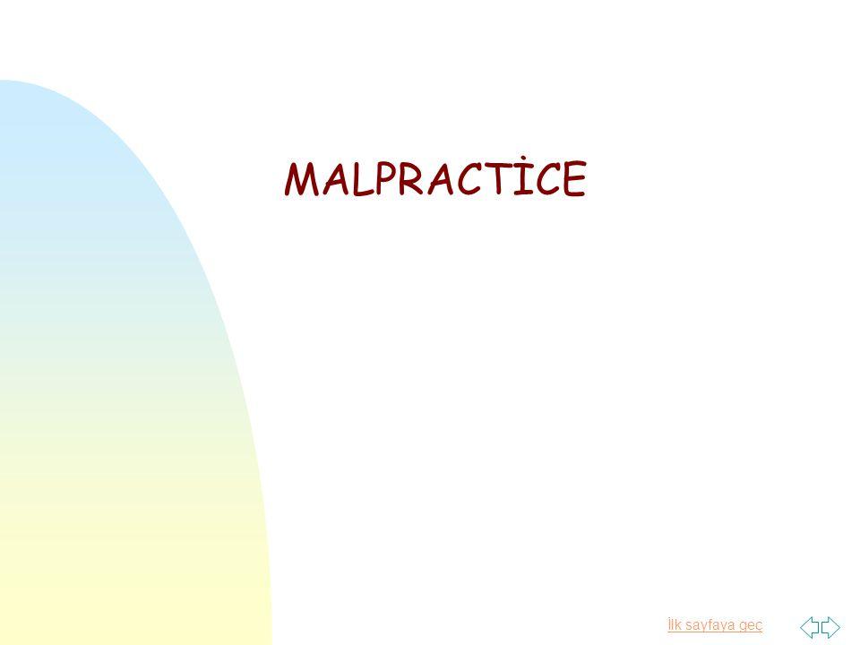 MALPRACTİCE