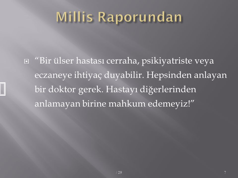 Millis Raporundan