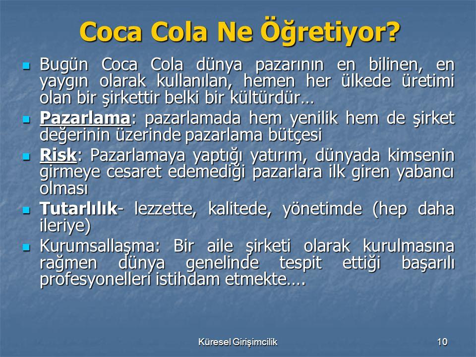 Coca Cola Ne Öğretiyor