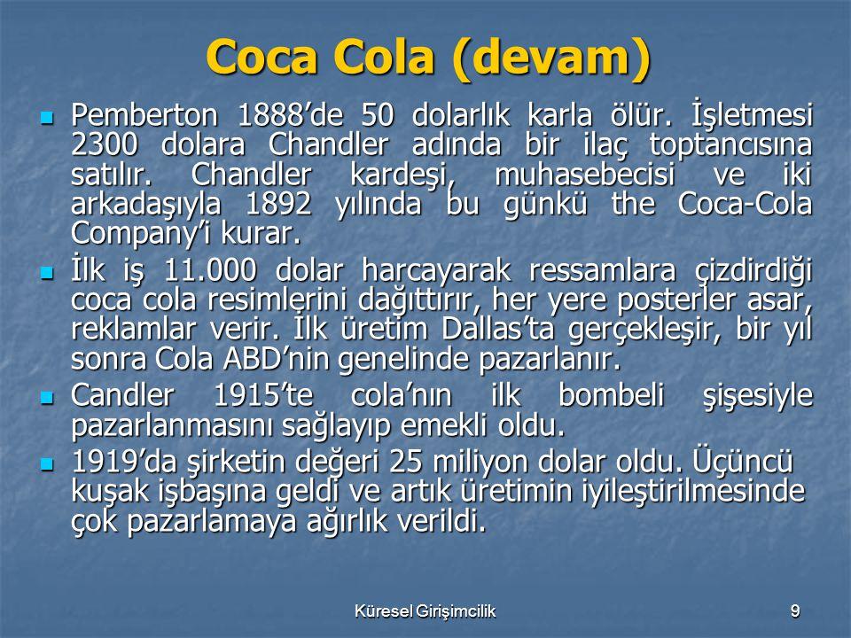 Coca Cola (devam)