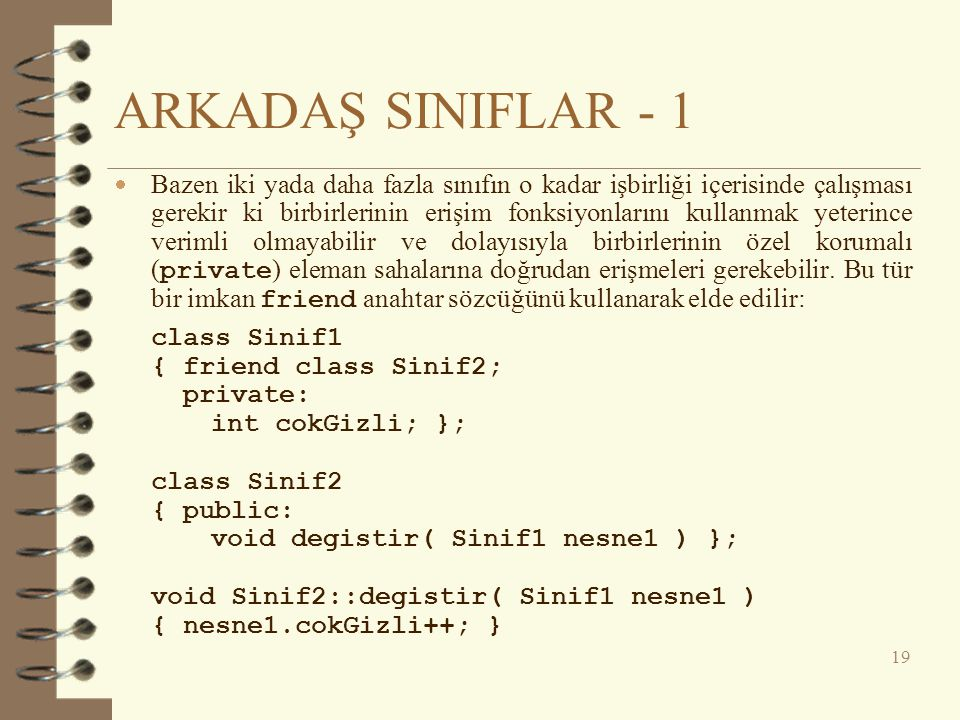 ARKADAŞ SINIFLAR - 1