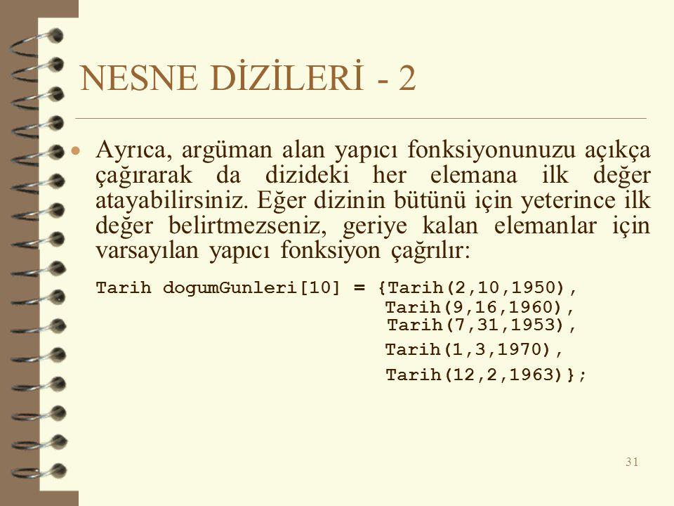 NESNE DİZİLERİ - 2