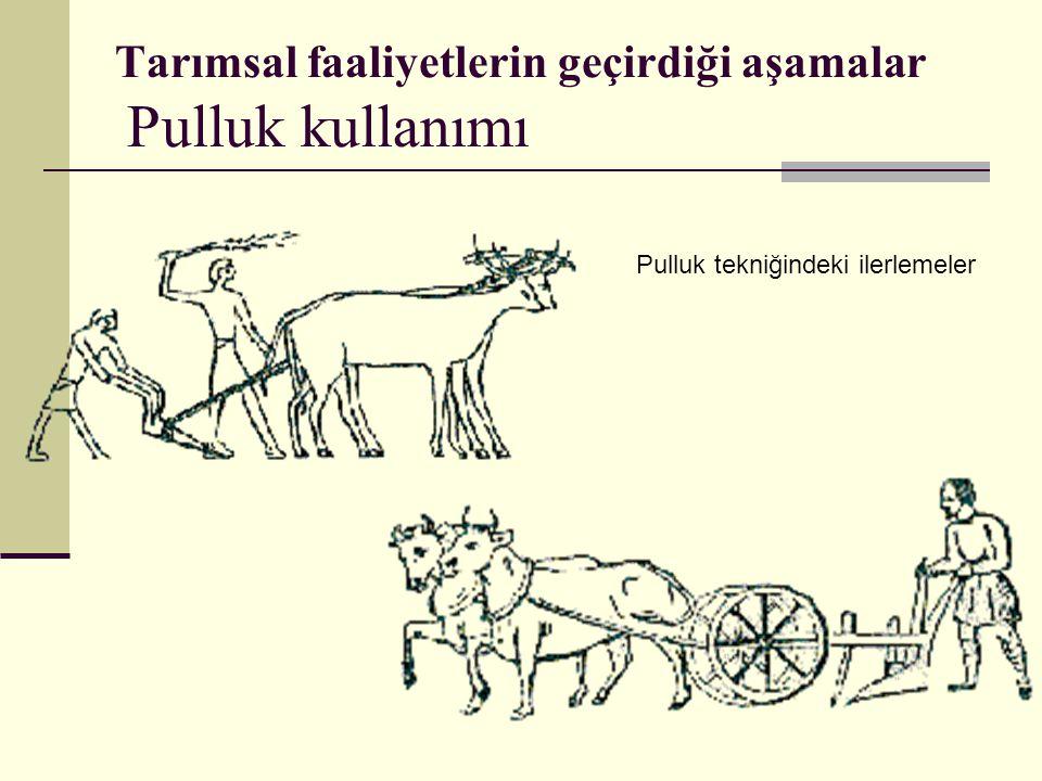 Tarımsal faaliyetlerin geçirdiği aşamalar Pulluk kullanımı