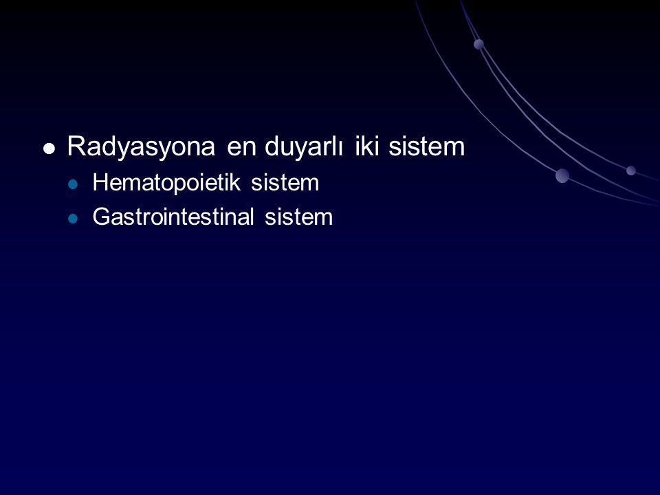 Radyasyona en duyarlı iki sistem