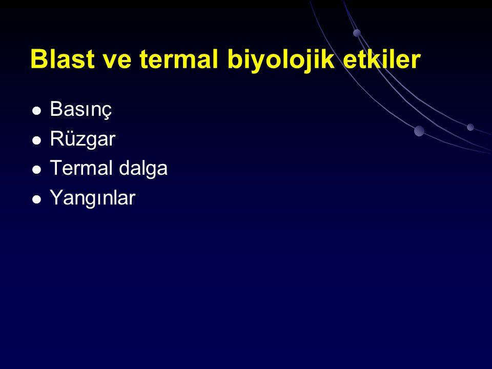 Blast ve termal biyolojik etkiler