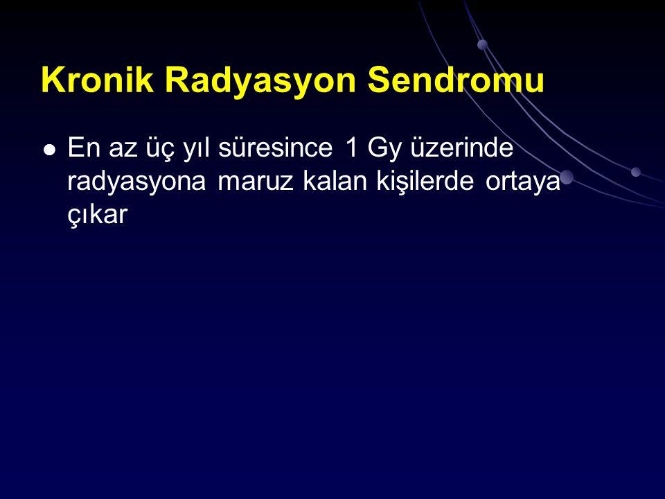 Kronik Radyasyon Sendromu