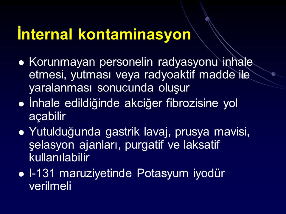 İnternal kontaminasyon