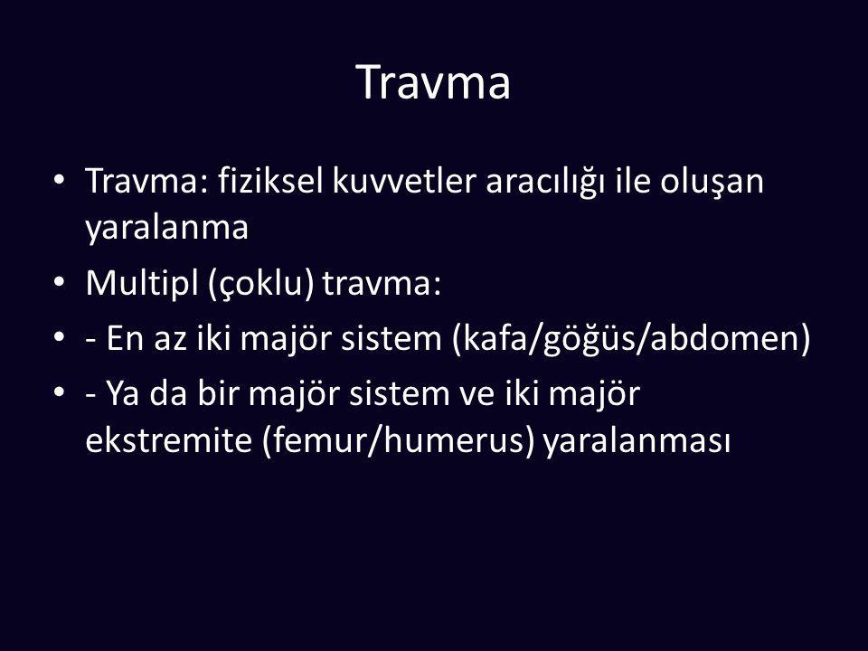 Travma Travma: fiziksel kuvvetler aracılığı ile oluşan yaralanma