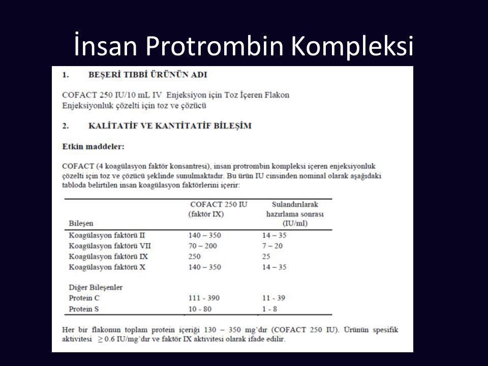 İnsan Protrombin Kompleksi