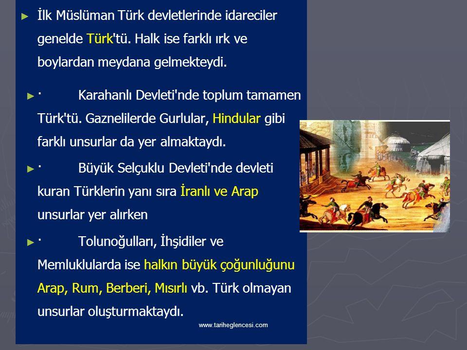 İlk Müslüman Türk devletlerinde idareciler genelde Türk tü