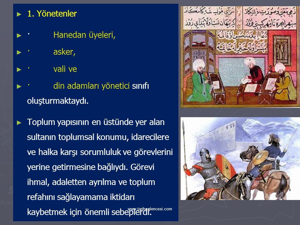 · din adamları yönetici sınıfı oluşturmaktaydı.