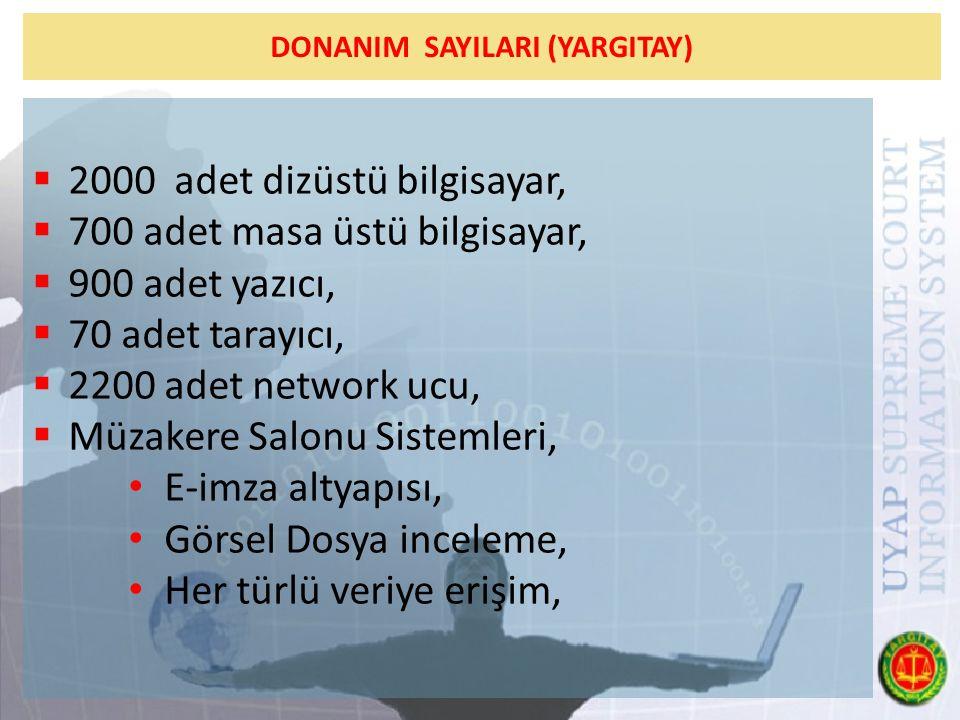 DONANIM SAYILARI (YARGITAY)