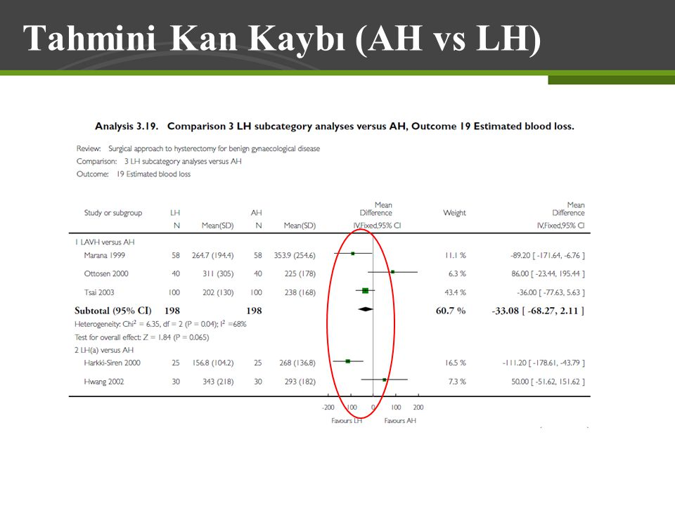 Tahmini Kan Kaybı (AH vs LH)