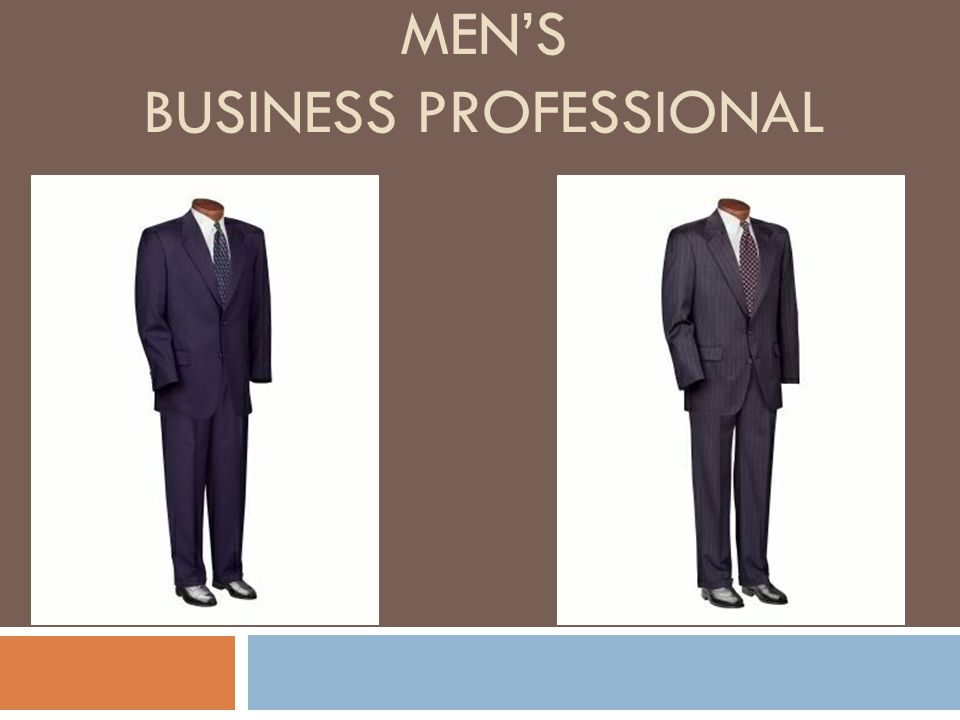 Men's Business Professional
