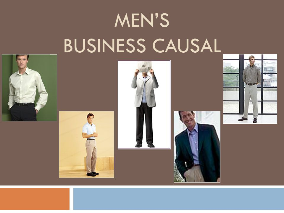 Men's Business Causal