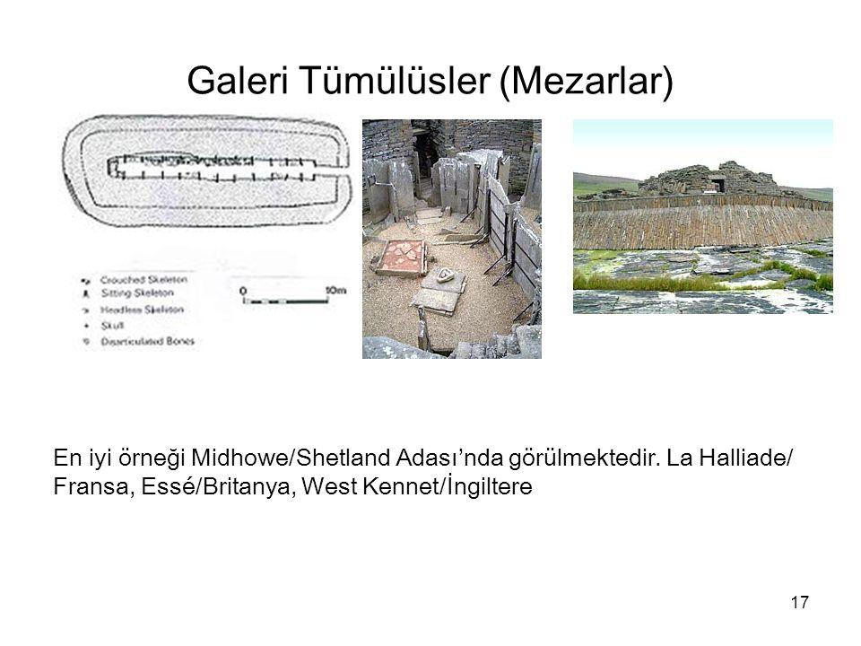 Galeri Tümülüsler (Mezarlar)