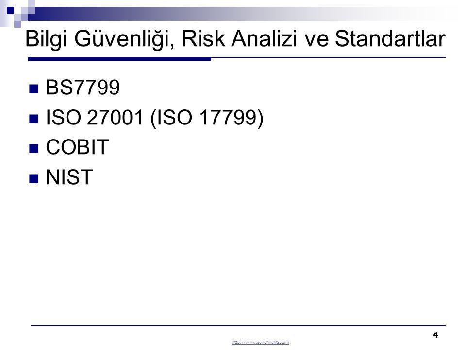 Bilgi Güvenliği, Risk Analizi ve Standartlar