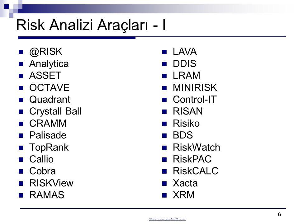 Risk Analizi Araçları - I