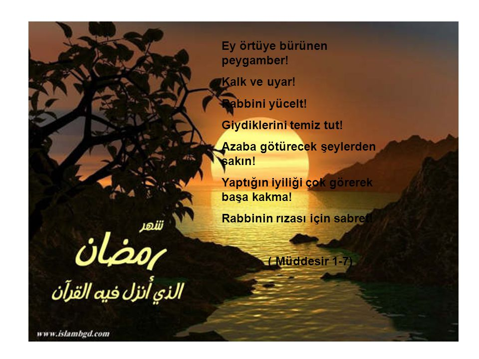 Ey örtüye bürünen peygamber!