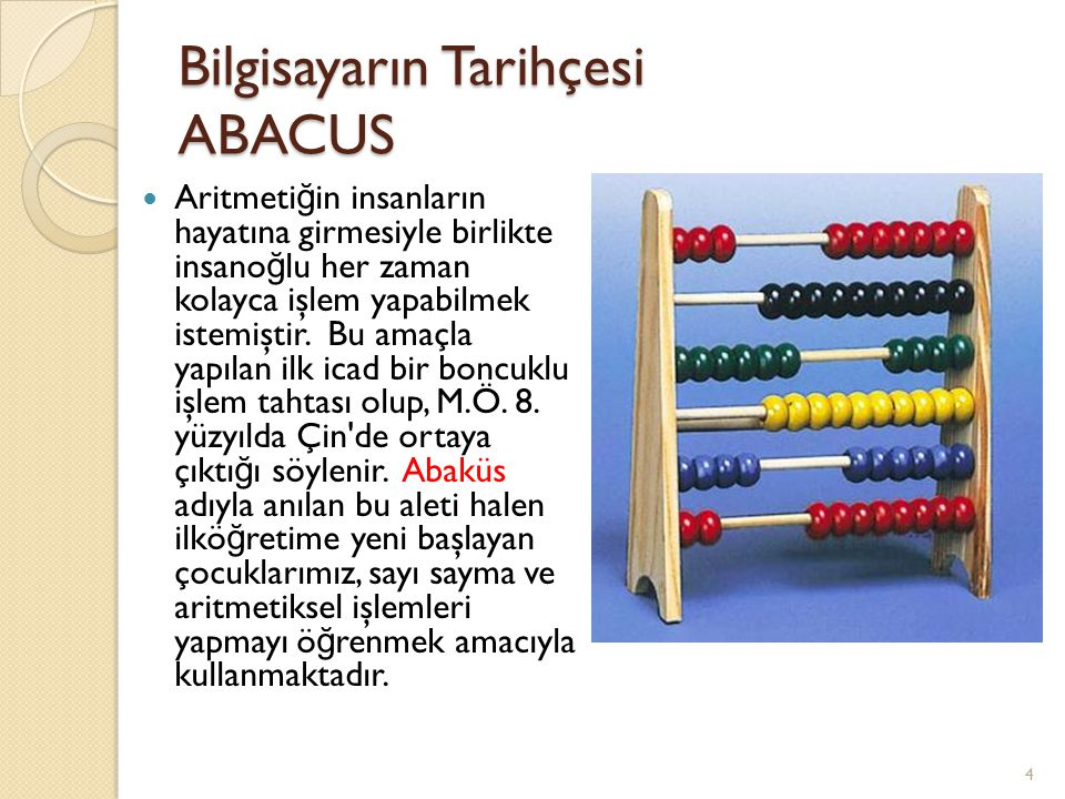 Bilgisayarın Tarihçesi ABACUS