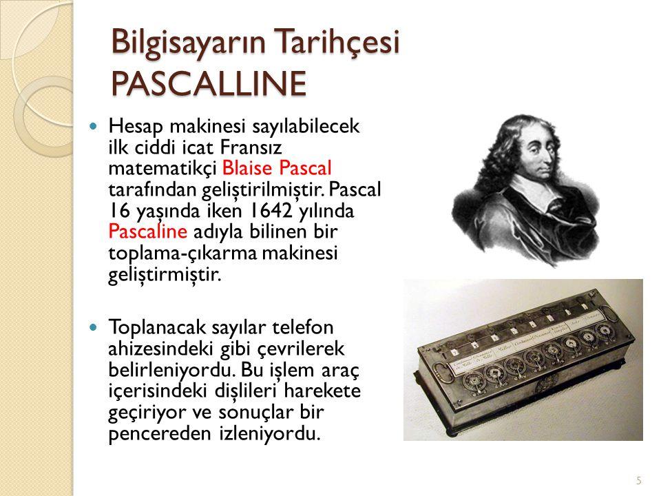 Bilgisayarın Tarihçesi PASCALLINE
