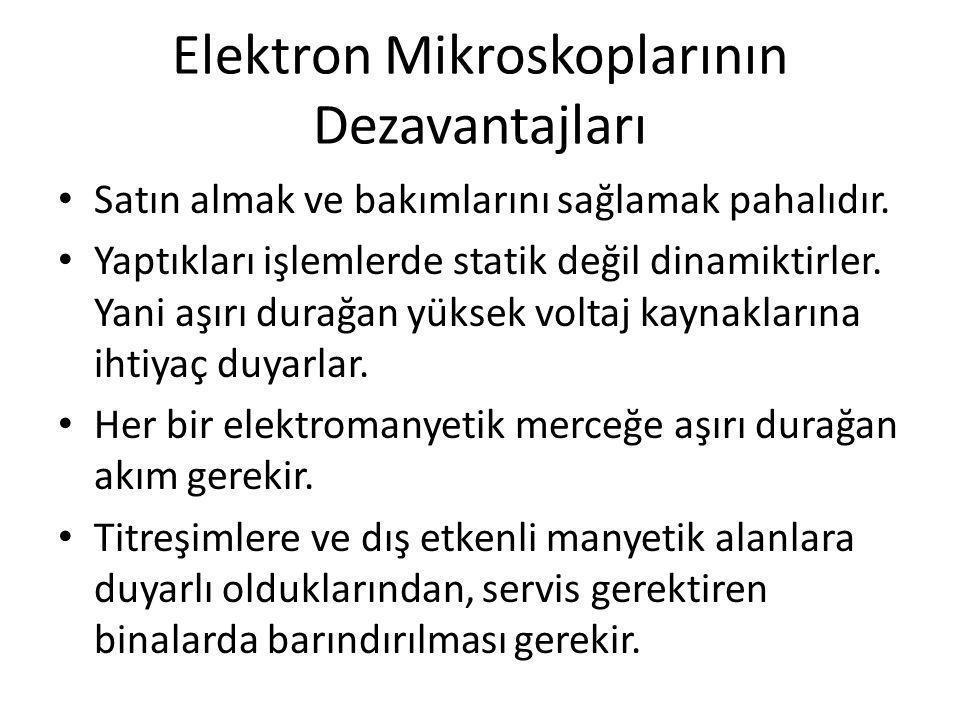 Elektron Mikroskoplarının Dezavantajları