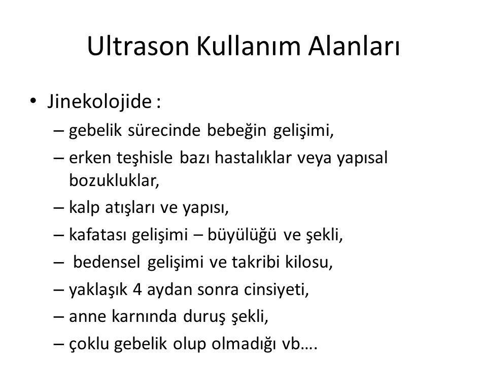Ultrason Kullanım Alanları