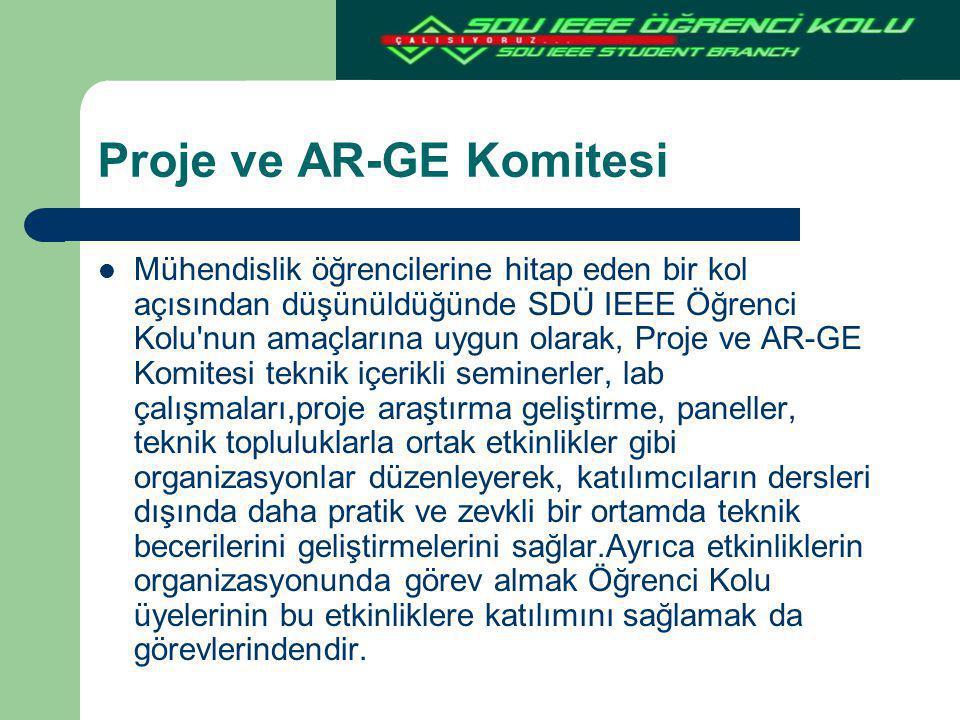 Proje ve AR-GE Komitesi