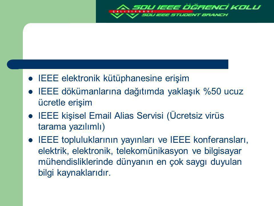 IEEE elektronik kütüphanesine erişim