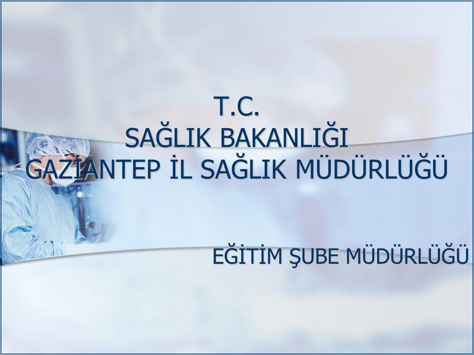 T.C. SAĞLIK BAKANLIĞI GAZİANTEP İL SAĞLIK MÜDÜRLÜĞÜ