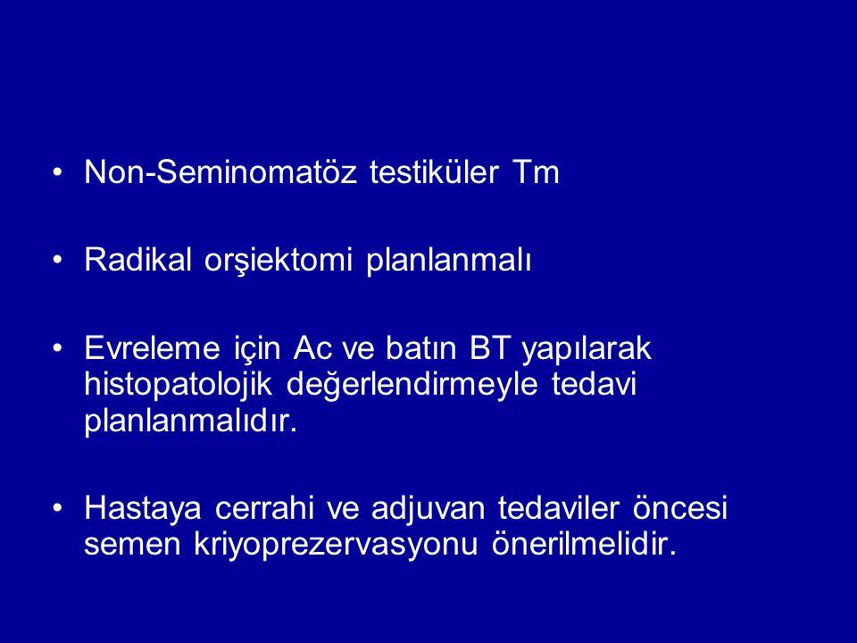 Non-Seminomatöz testiküler Tm