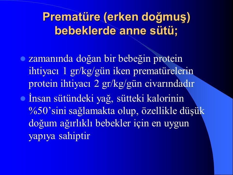 Prematüre (erken doğmuş) bebeklerde anne sütü;
