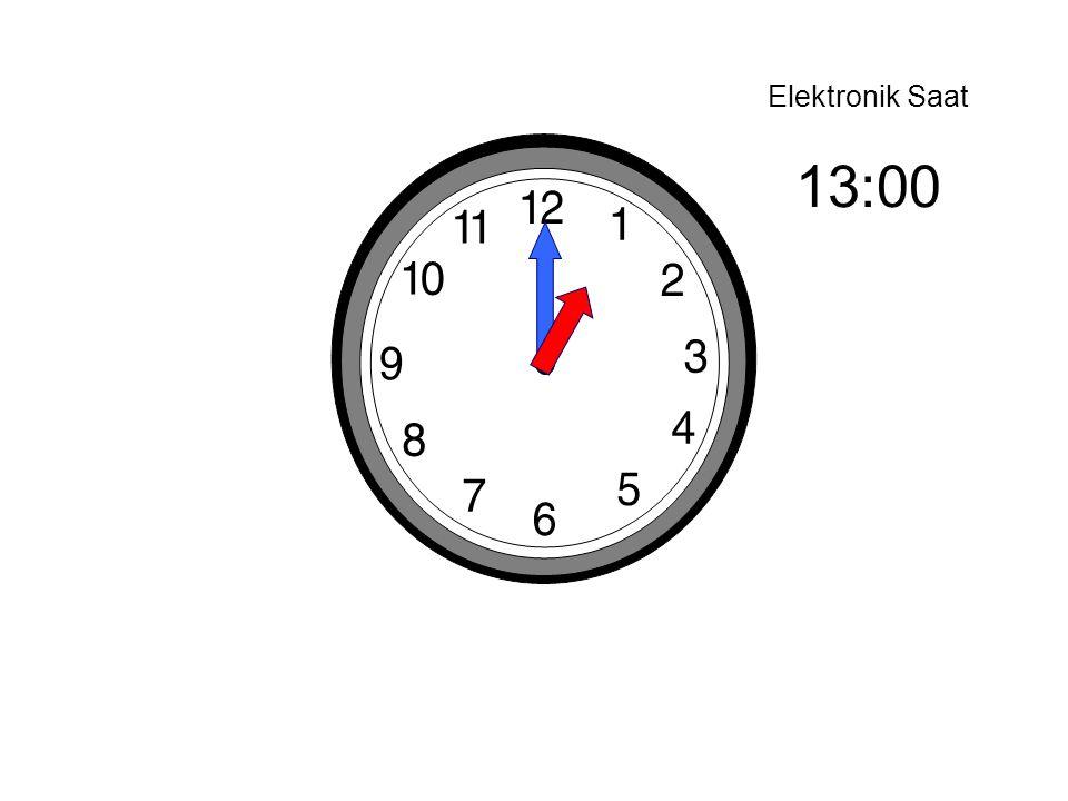 Elektronik Saat 13:00