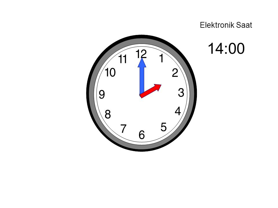 Elektronik Saat 14:00