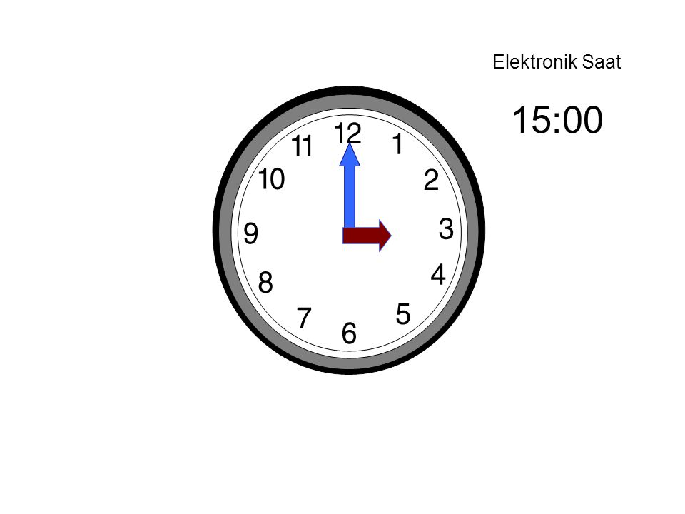 Elektronik Saat 15:00
