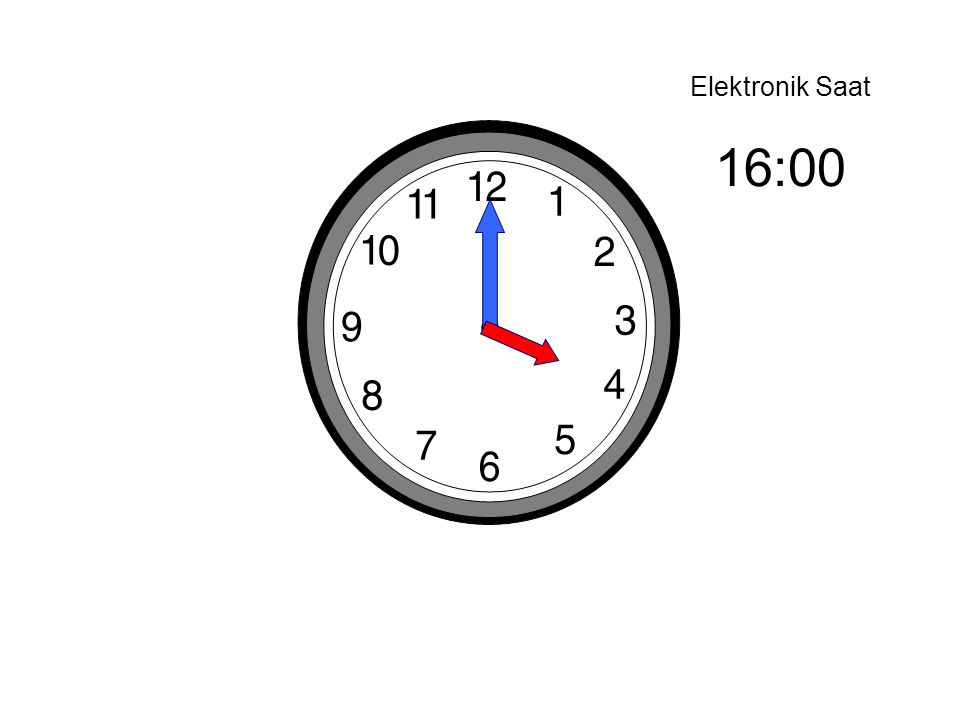 Elektronik Saat 16:00