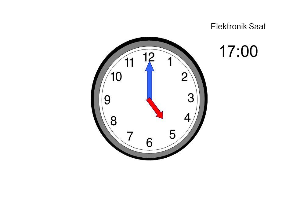 Elektronik Saat 17:00