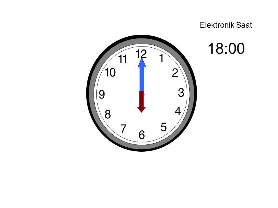 Elektronik Saat 18:00