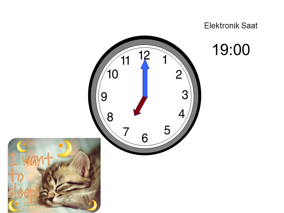 Elektronik Saat 19:00
