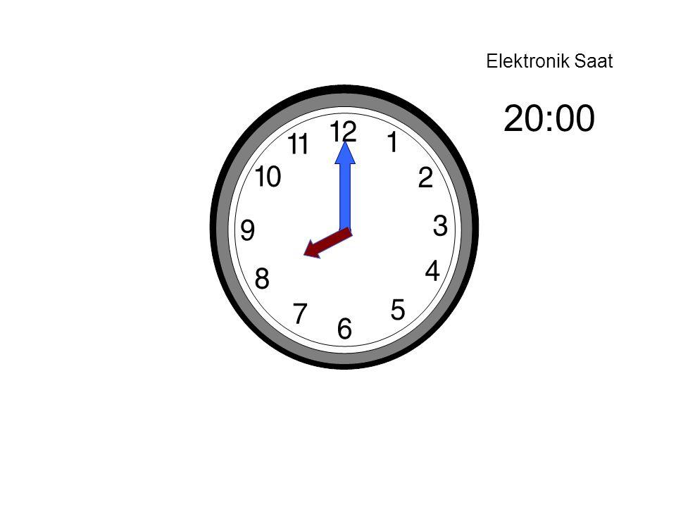 Elektronik Saat 20:00